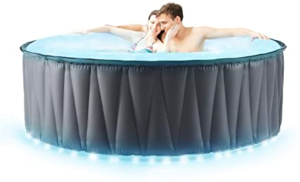 Miweba MSpa aufblasbarer Whirlpool Outdoor - LED - 4/6 Personen - 118/138 Düsen - 180/204 x 70 cm - Tüv GS geprüft - 700/900