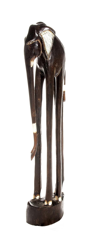30cm Elefante di legno di legno Elefante Africa Elefante Decoration Ciffre