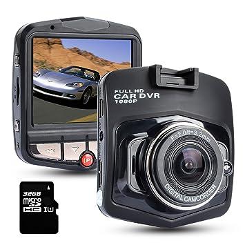 Dashcam Cámara Coche con 32GB TF Tarjeta,ZOTO Full HD 1080P Cámara para Coche,