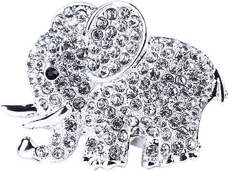 Moonring Elefant Auto Parfüm Clips Strass Tier Stil Lufterfrischer Auto Klimaanlage Vent Parfüm Halter Silber Küche Haushalt