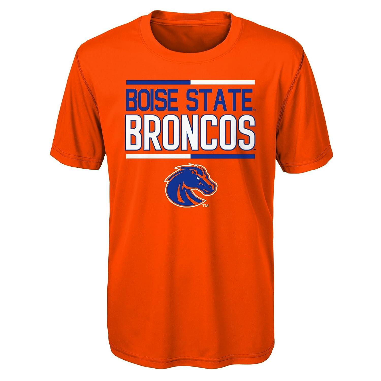 10-12 Youth Medium Orange NCAA by Outerstuff NCAA Boise State Broncos Youth Boys Flag Runner Dri-Tek Short Sleeve Alternate Color Tee