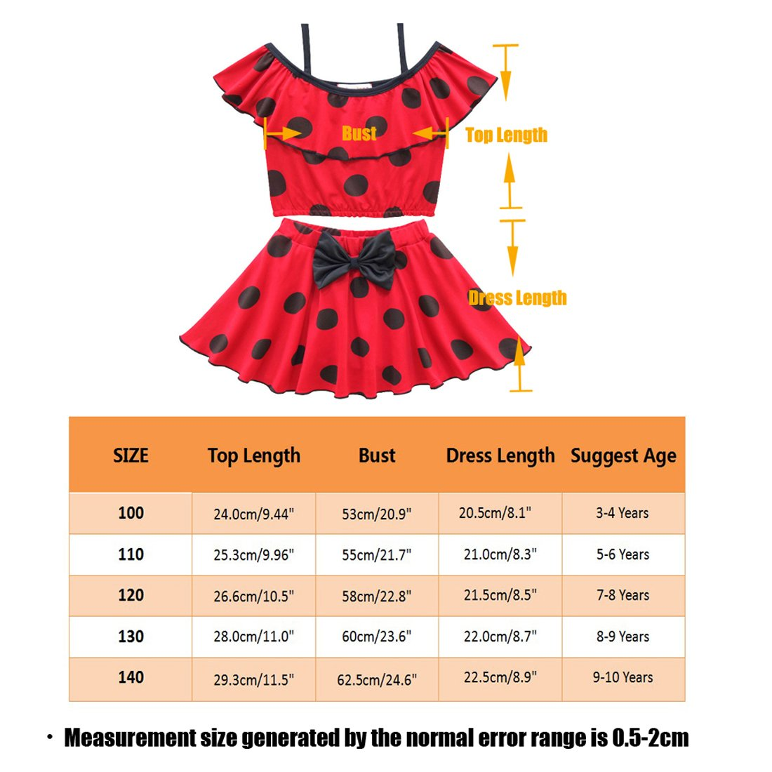 Amazon.com: ZHBNN Ladybug - Traje de baño de dos piezas para ...