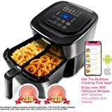 NUWAVE BRIO 6-Quart Digital Air Fryer includes basket divider
