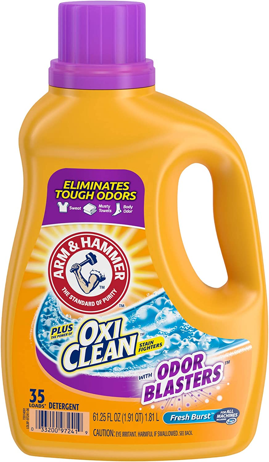 Arm & Hammer Plus OxiClean Odor Blasters Laundry Detergent, 35 Loads