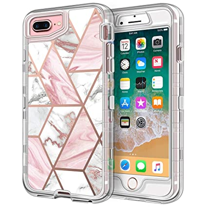 Amazon.com: Funda para iPhone 8 Plus, iPhone 7 Plus, Anuck 3 ...