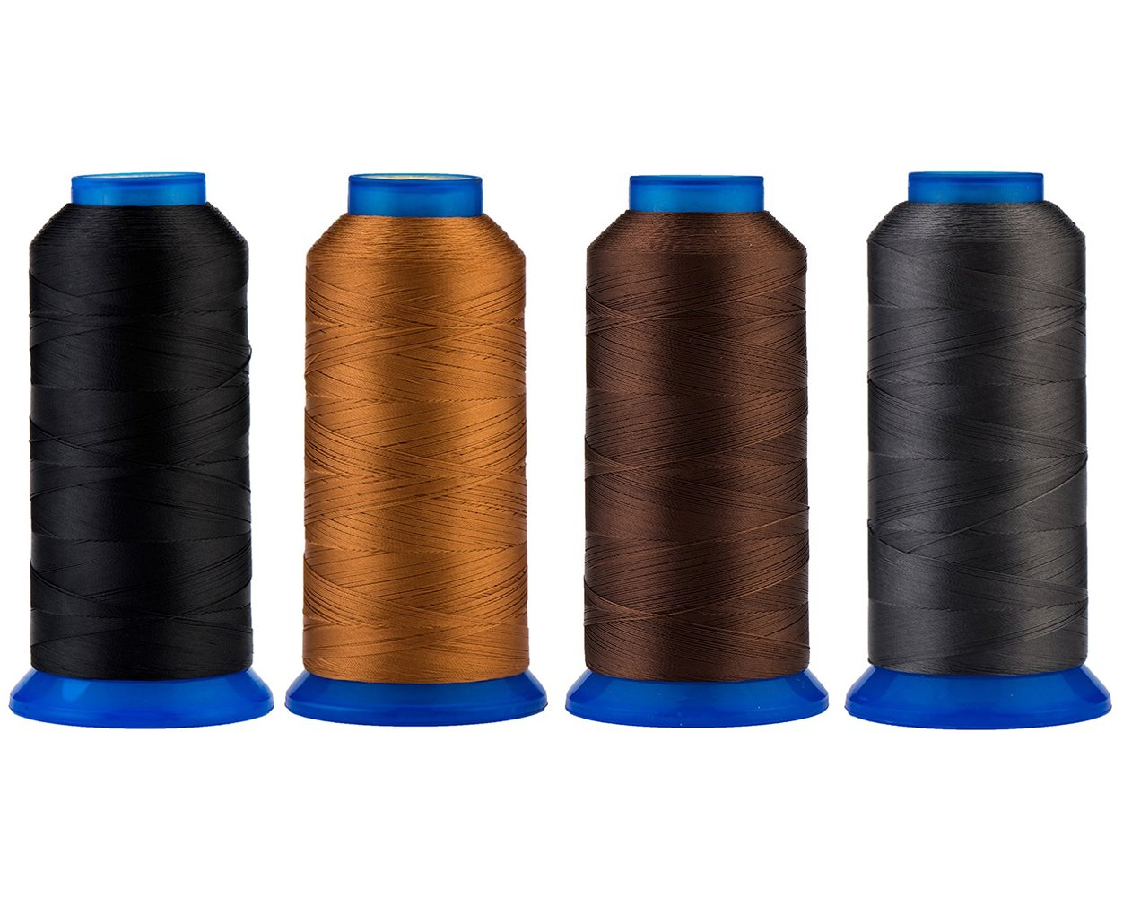Selric Beading Royal Blue Leather UV Resistant High Strength Polyester Thread #69 T70 Size 210D//3 for Upholstery 1500Yards // 130g // 30 Colors Available Purses Drapery Outdoor Market