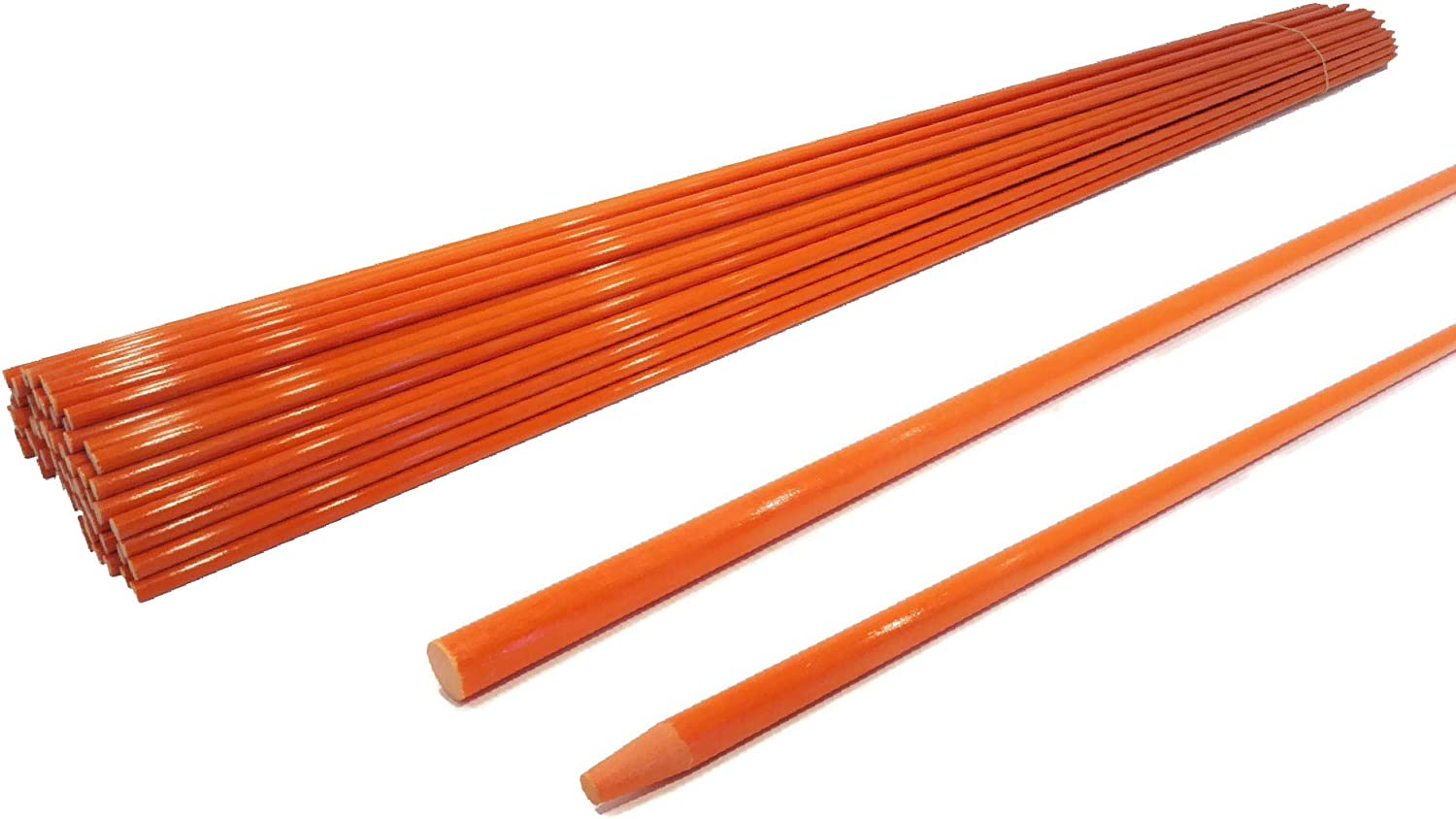 The ROP Shop | 1/4 Inch (Pack of 20) Orange 48 Inch Non-Reflective Driveway Markers, Snow Stakes Poles for Snow Plowing Driveways, Parking Lots, Walkways, Sidewalks
