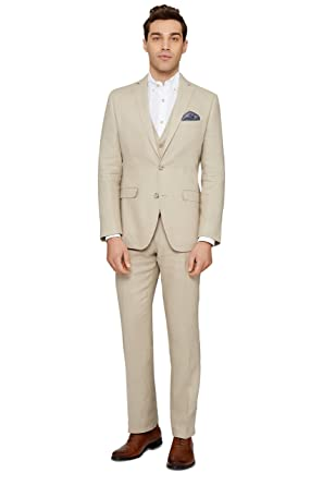 Beliebt Bevorzugt Moss 1851 Herren Tailored Fit Beige Leinen Anzug Jacke Sakko 52R @JU_92