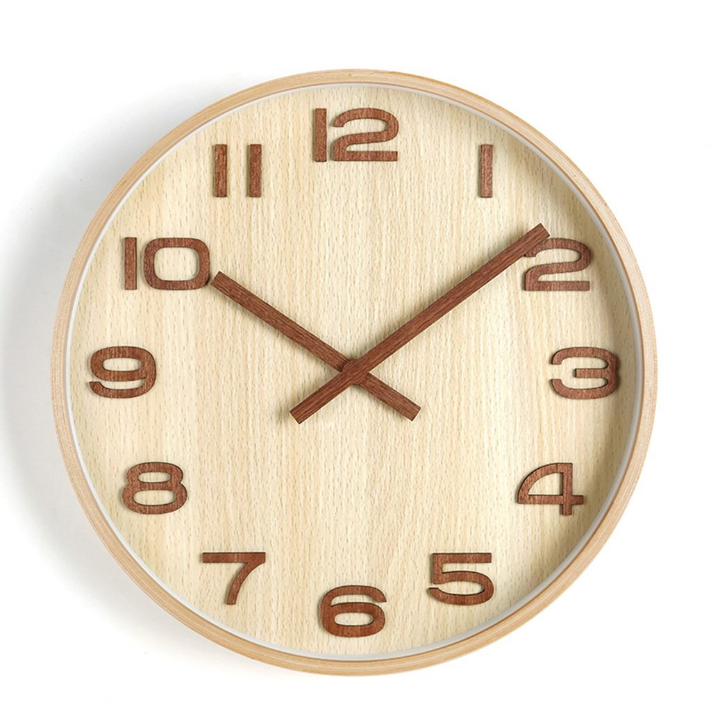 HWH サイレントリビングルームウォールクロック、ベッドルームコーヒーショップレストランバーバーショップホテルスタディ教室リビングルームウォールクロック木製壁時計25.6-40.8CM XINXIG (色 : B, サイズ さいず : 35.8*35.8CM) B07DGWXZWR 35.8*35.8CM|B B 35.8*35.8CM