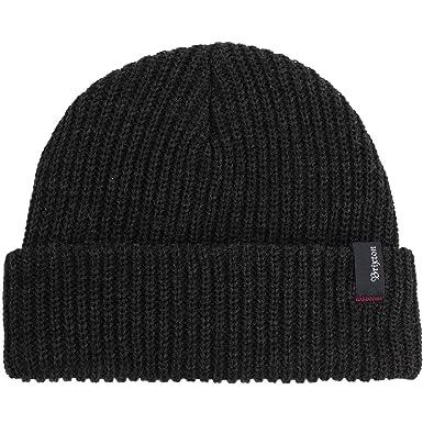 93715a06745 Brixton LIL Heist Washed Black Beanie  Amazon.co.uk  Clothing