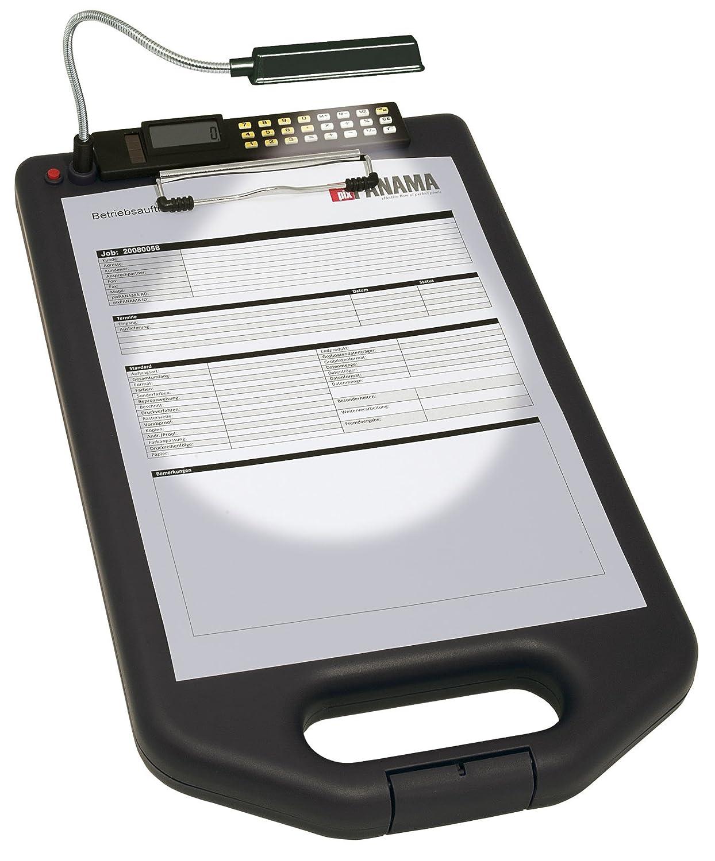 calculatrice Noir lampe LED Wedo 0576101 Porte-bloc A4 avec compartiment de rangement