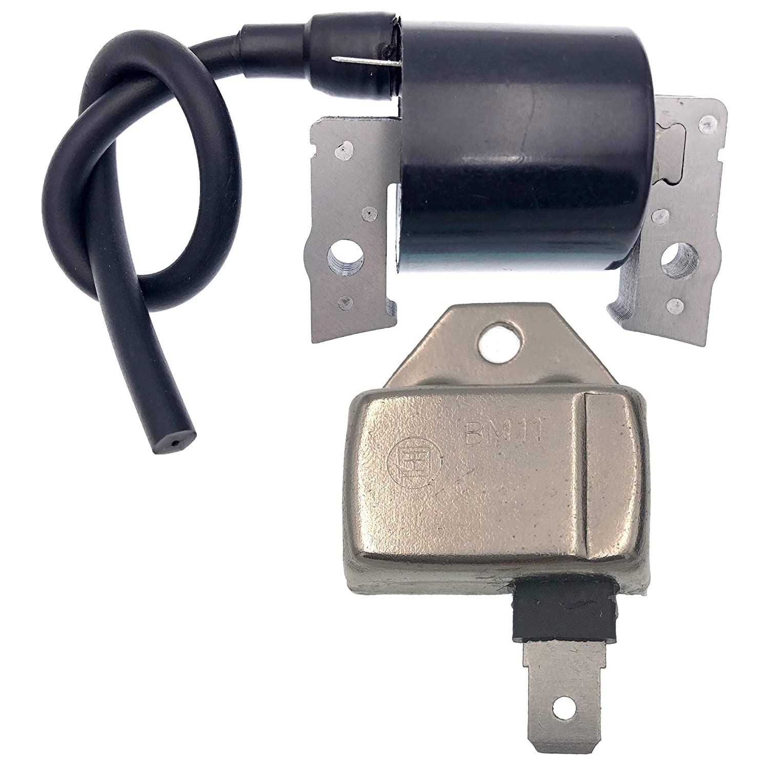 21121-2070 Ignition Coil for Kawasaki Engine 21119-2161 Igniter Module fits John Deere Lawn Tractors AM109209 FC420V LX172 LX176 ZF-IG-A00471