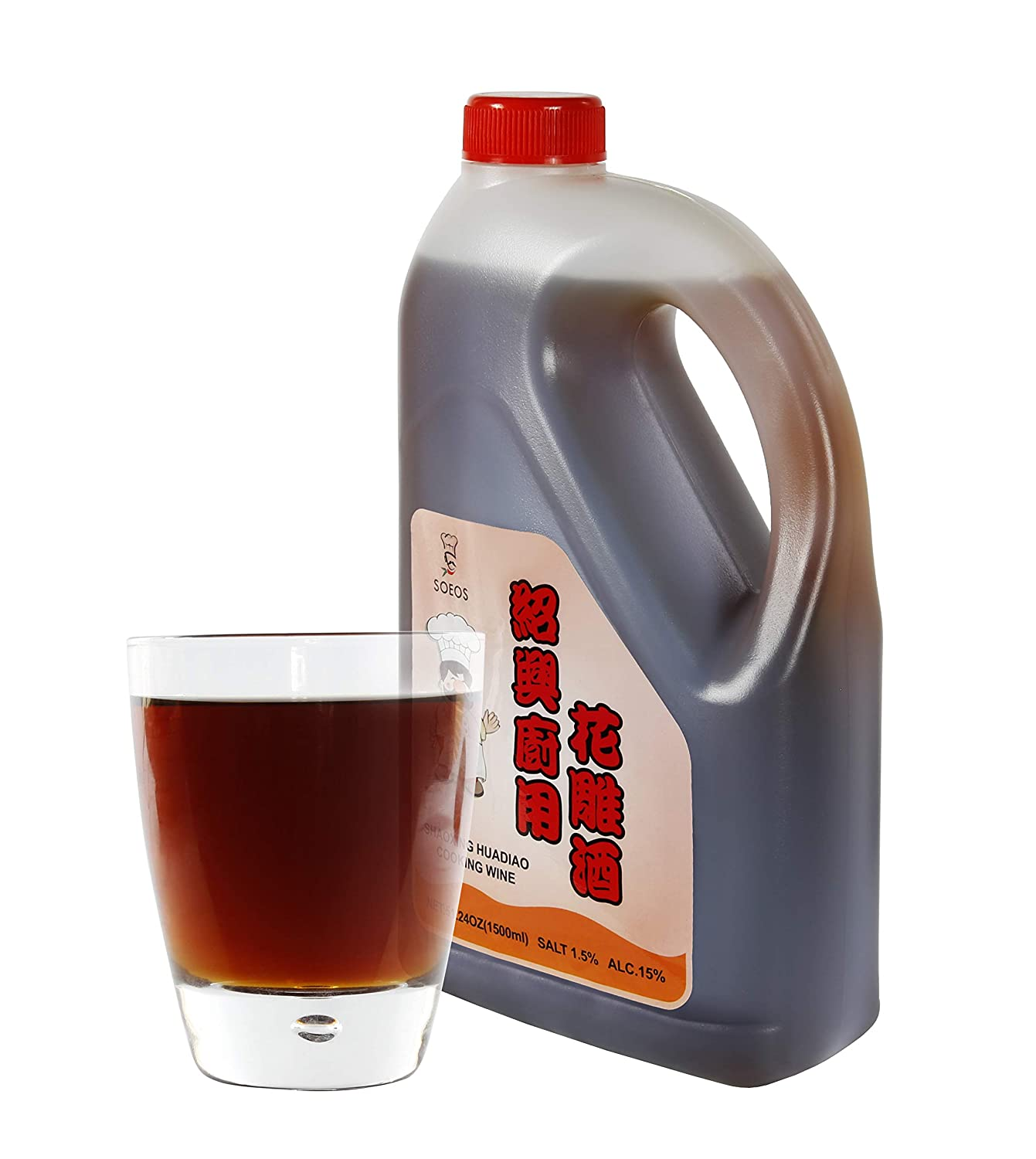 Soeos - Vino chino para cocinar arroz (750 ml), color rojo ...