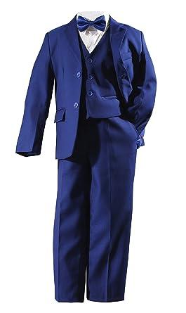 Costume garçon mariage cérémonie bleu complet 5 pièces - Bleu marine - 2 ans d9689da9a0b
