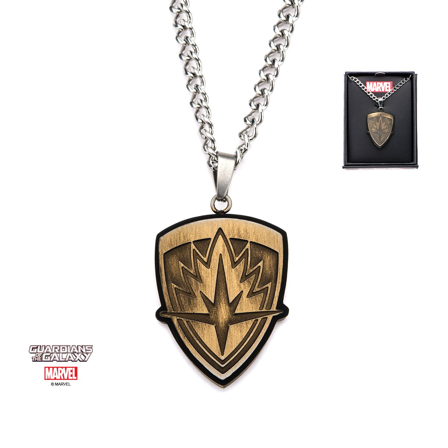 Guardians of the Galaxy Stainless Steel Pendant Necklace - DeluxeAdultCostumes.com