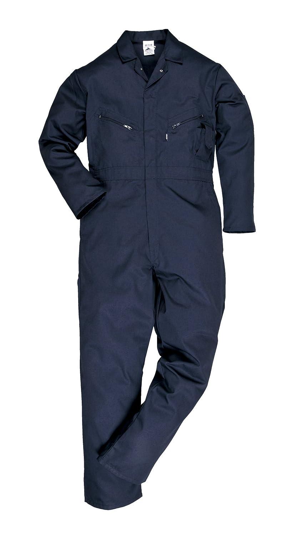 Portwest C813NATL Combinaison avec Fermeture /Éclair Coupe Longue Bleu Marine Taille L
