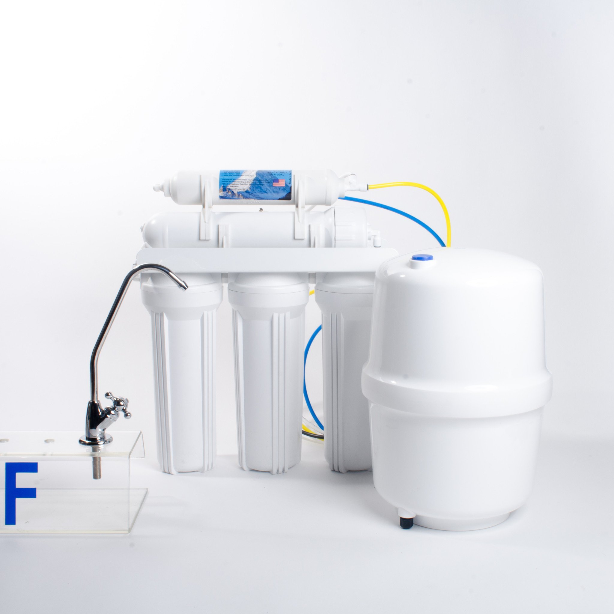 6-Stage Reverse Osmosis Water Filtration System with Alkaline Cartridge - 50 GPD by Anchor USA