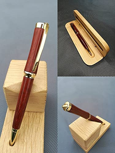 Concave Wooden Padouk Pen Luxury Gift Original And Useful Man Woman Student Teacher Birthday Idea Retirement Valentine Wedding Christmas