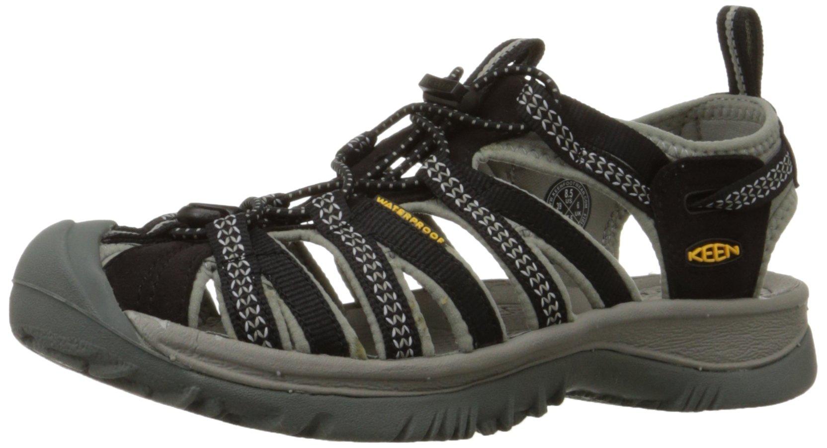 KEEN Women's Whisper Sandal,Black/Neutral Gray,8.5 M US by KEEN