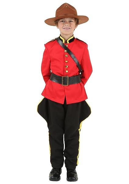 Diversión trajes niños niño canadiense Mountie disfraz ...