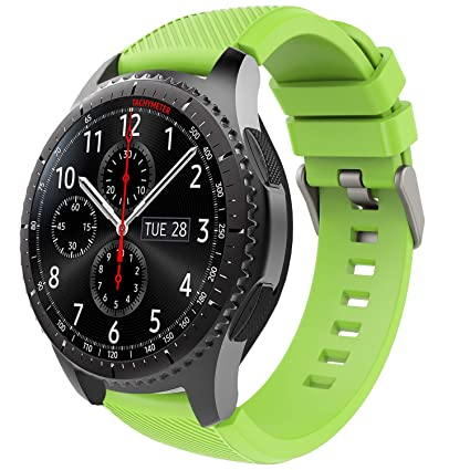 TiMOVO Band Compatible for Samsung Gear S3 Frontier/Galaxy Watch 46mm, Soft Silicone Strap with Watch Lug Fit Samsung Gear S3 Frontier/S3 Classic/Moto ...
