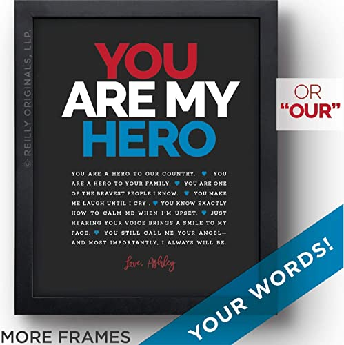 UNIQUE Personalized Gift Valentines Day Birthday My Hero Marine EMT Police Fire Man Reasons Youre Loved Things Friend Father Grandfather Husband Boyfriend