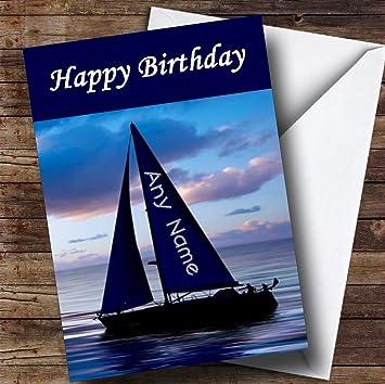 Sailing Ship Personalised Birthday Greetings Card