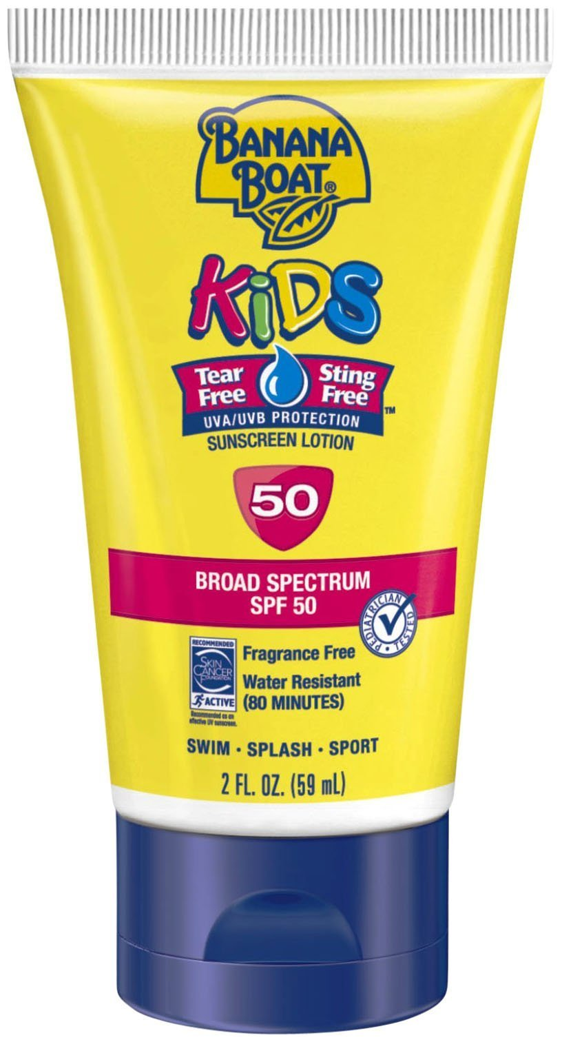 Banana Boat Kids Tear Free Sunscreen Lotion - SPF 50-2oz