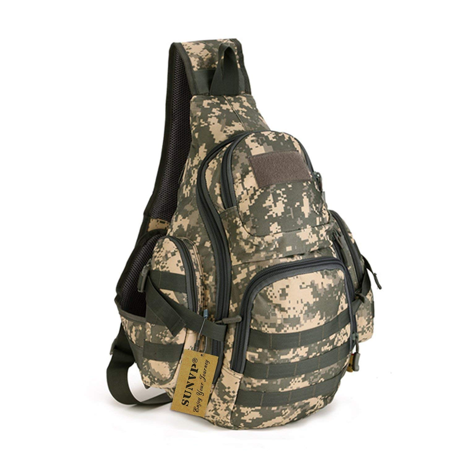 Protector Plus Tactical Military Daypack Sling Chest Pack Bag Molle Laptop Backpack Large Shoulder Bag Crossbody Duty Gear For Hunting Camping Trekking [並行輸入品] B07R4T4CLX