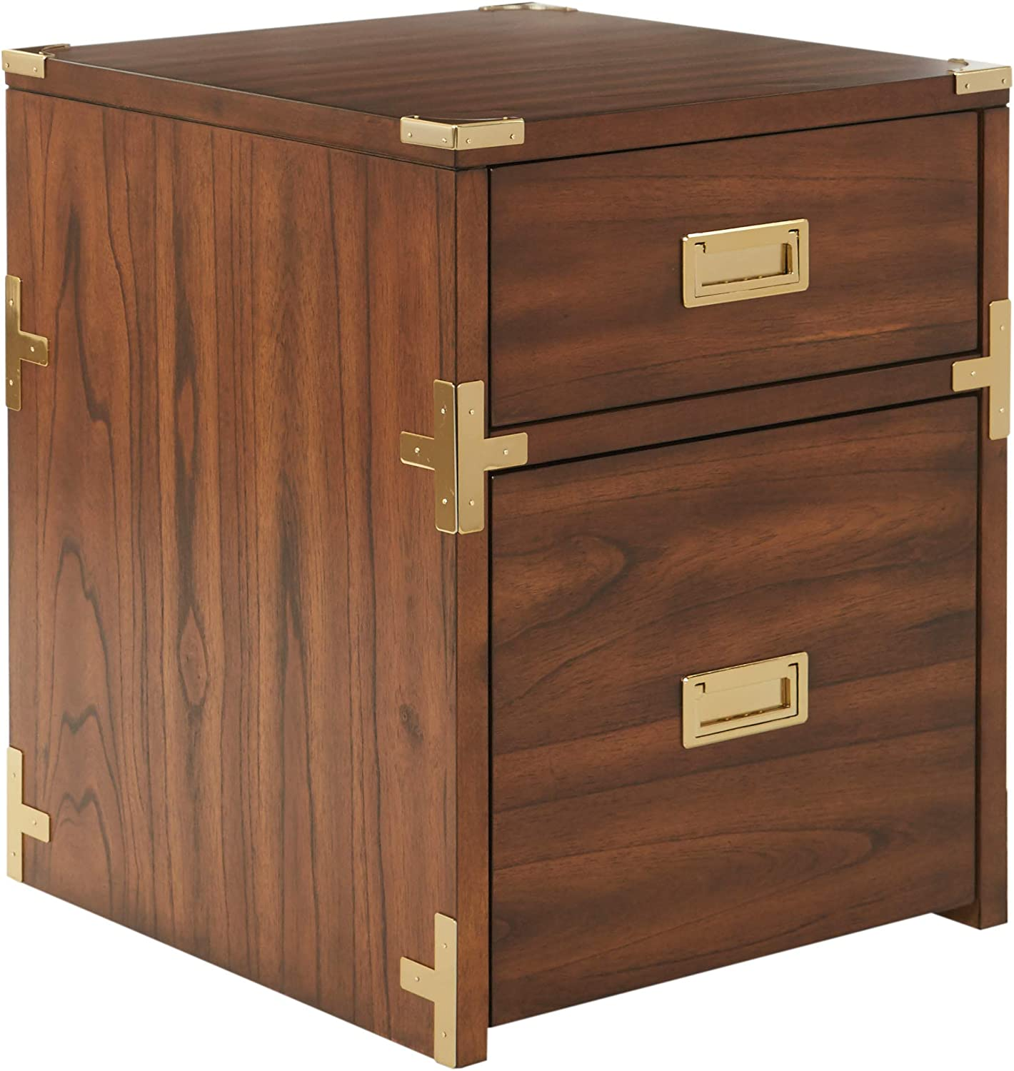 OSP Home Furnishings Wellington 2-Drawer File Cabinet, Toasted Wheat Finish