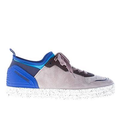 5221c27cd31db Hogan Men Shoes Rebel Grey Nubuk Sneaker Blue Neoprene Panel Ink ...