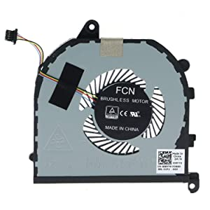 Replacement CPU+GPU Cooling Fan for Dell XPS 15 9570 7590 Laptop, Precision 5530 Series Laptop P/N: 008YY9 0TK9J1 TK9J1 08YY9
