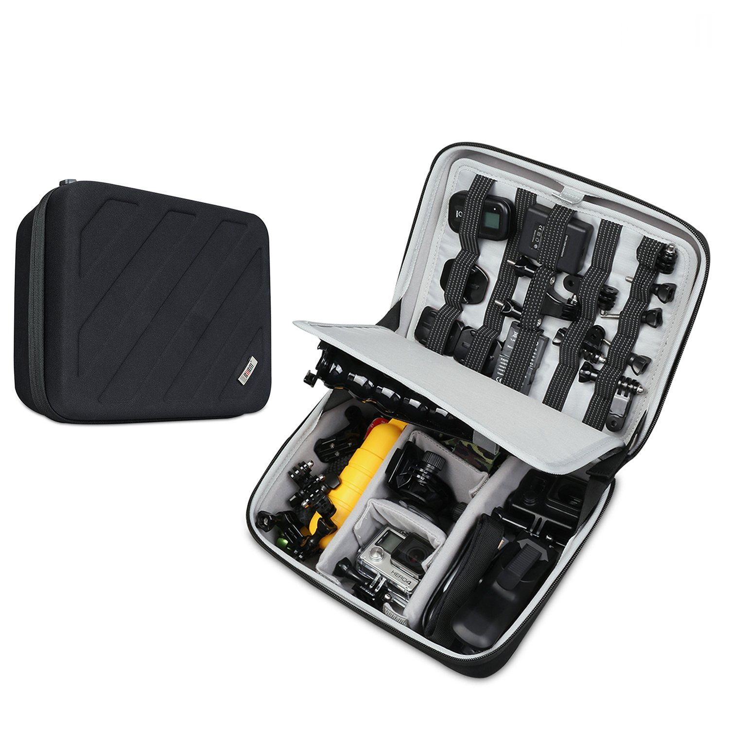 Carrying Case for GoPro Hero 6/5/4/3+/3/2/1,Electronic Organizer,Hard Shell Travel Storage Bag for Makeup,Cables,Flash Hard Drive, Power Bank and More