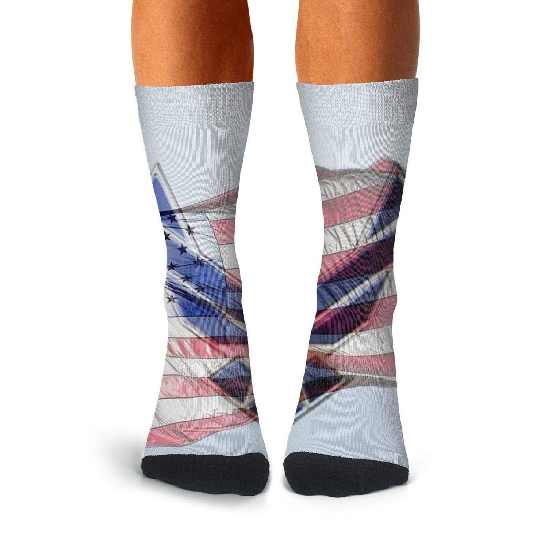 KCOSSH american flag us air force Novelty Crew Sock Cool Calf Socks for Mens