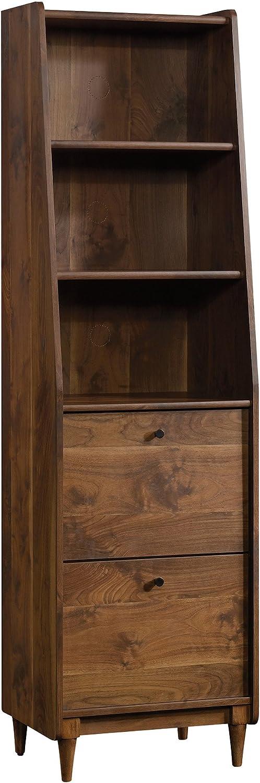 Sauder Harvey Park Narrow Bookcase, Grand Walnut finish