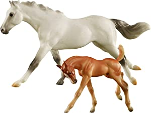 Breyer Freedom Series (Classics) Racing The Wind | Horse and Foal Toy Set | 1:12 Scale | Model #62208