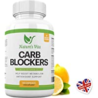 Nature's Vita Carb Blocker Complex | Natural Weight Loss Support, Appetite Suppressant, Fat Breakdown & Immune Boost | White Kidney Bean, Guarana & Vitamin C Supplement | 120 Fat Burner Capsules