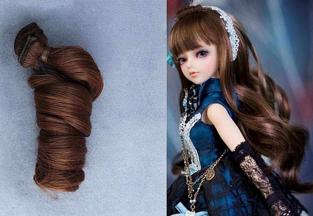 1 pcs 5*100cm Doll Wigs Straight Fringe Color Hair For 1//3 1//4 1//6 BJD SD Doll
