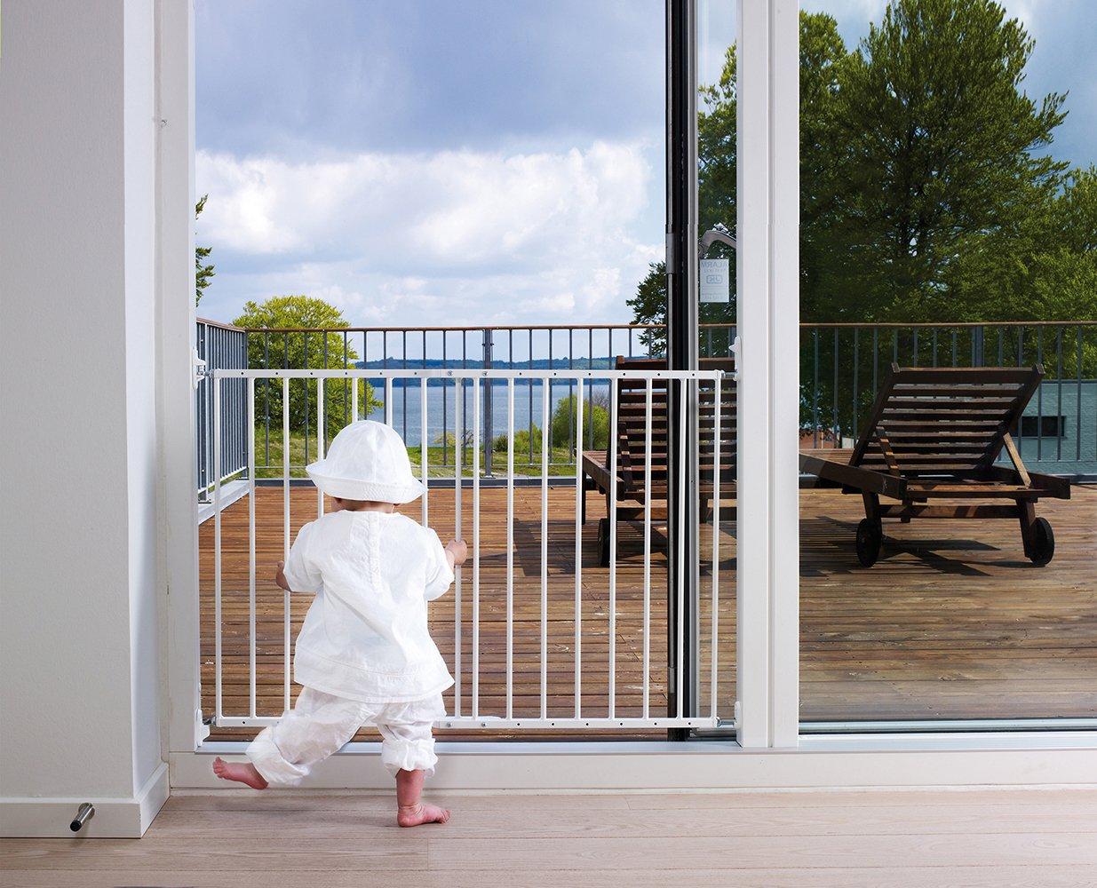 BabyDan Multidan Extending Metal Safety Gate, White: Amazon.co.uk: Baby