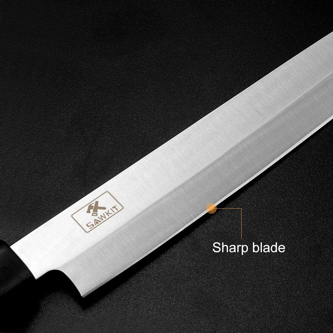 SAWKIT 7 inch Sashimi Knife//Sushi Chefs knifes//Stainless Steel Slicing Slicing Meat and Fish Peeling Multi-Purpose Kitchen Knifes 7 inch