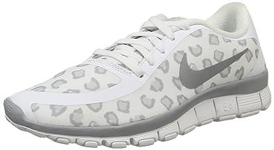 df0ace2cc038 Nike Women s Free 5.0 V4 Ns Pt White Wolf Grey Pure Platinum Running Shoe