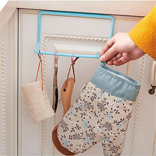 1pc Over Door Towel Rack Bar Hanging Holder Rail Bathroom Kitchen Organizer