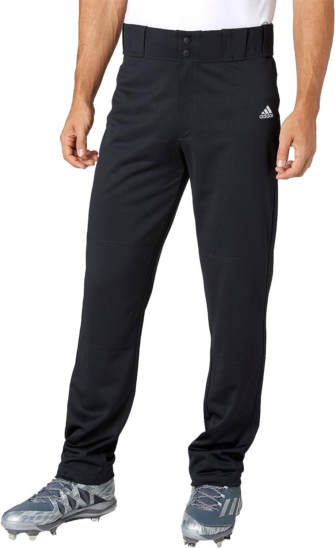 AdidasメンズPhenom Open Bottom野球パンツ B077KZ68ZG Medium ブラック ブラック Medium