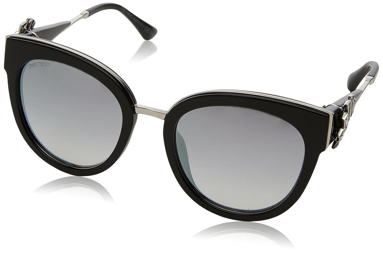 9a8241d7f2a Sunglasses Jimmy Choo Jade S 0U4T Bkpld Black FU violet silver mirror lens  at Amazon Women s Clothing store