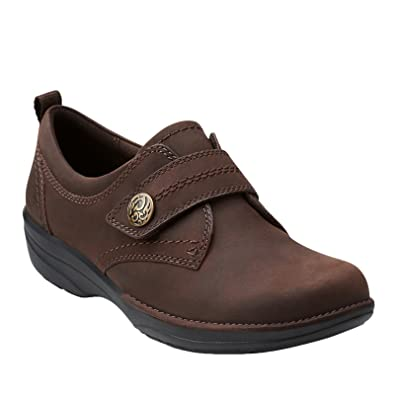 Clarks Women's Gaberly Panama Monk Strap,Brown Oily Leather,US ...