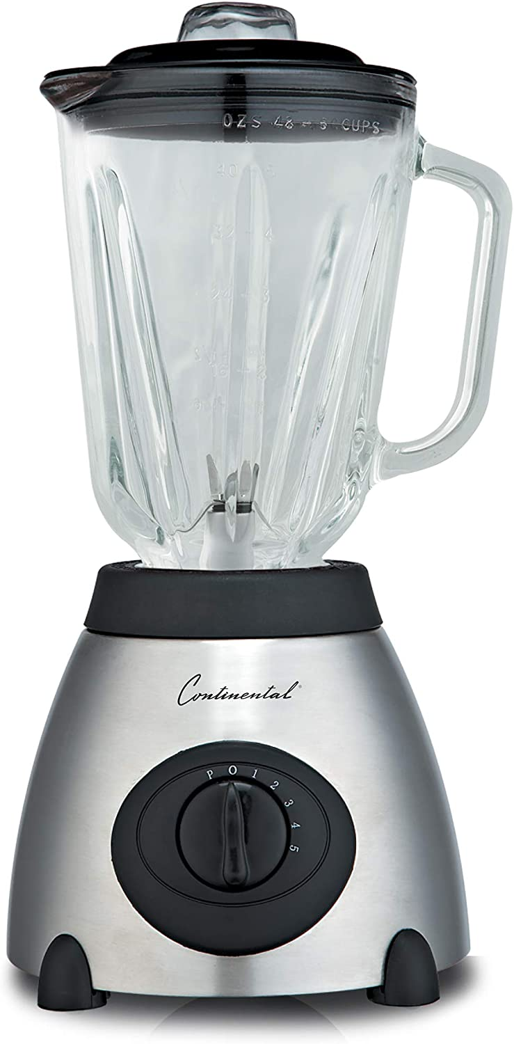 Continental Electric CP42148 Blender, 48 Ounce, Stainless Steel