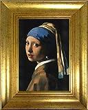 フェルメール 真珠の耳飾りの少女 アートポスター+ヴィンテージフレーム付 TXA-001FR