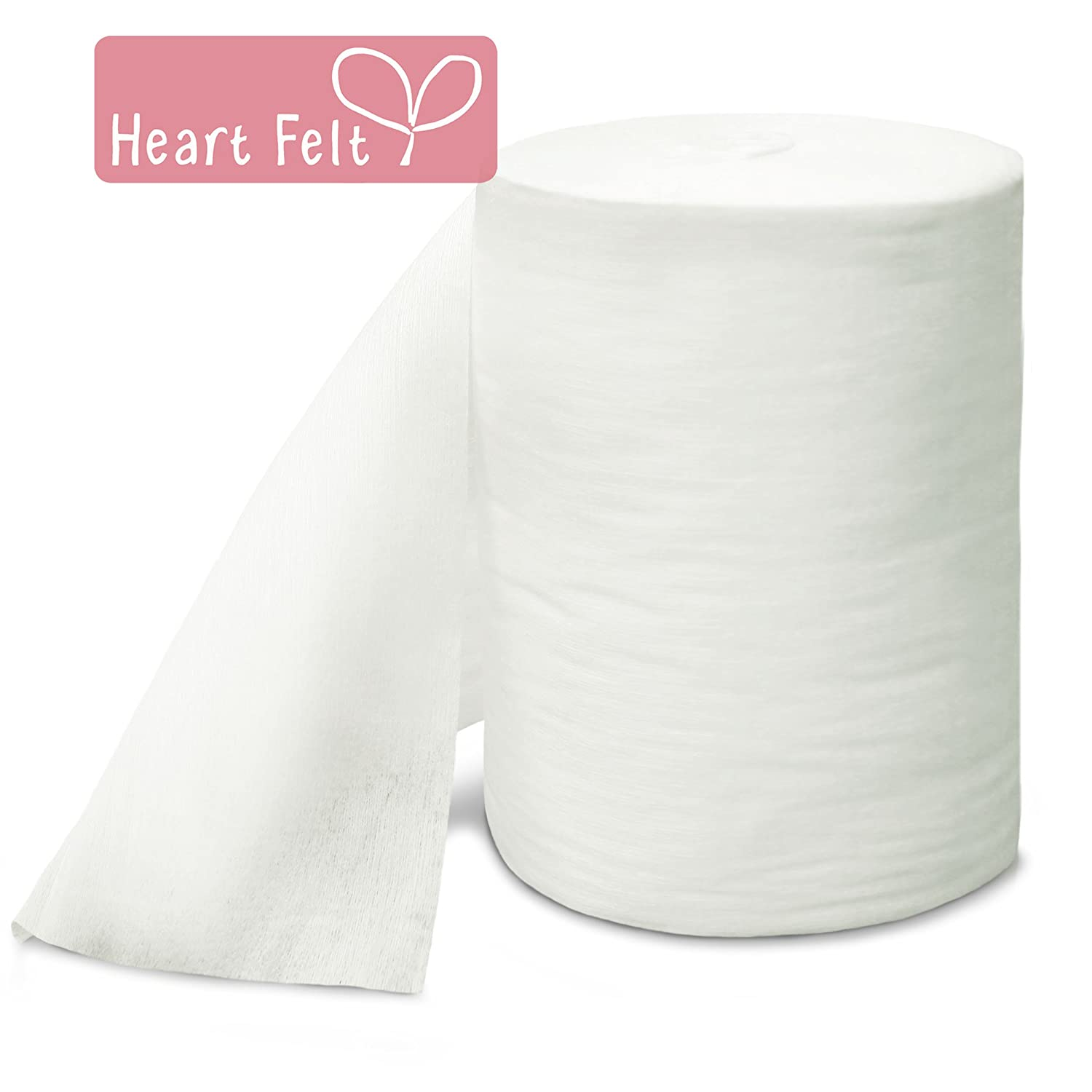 Heart Felt Bamboo Cloth Diaper Liners -100 Sheets. Flushable, Biodegradable and All Natural to Preserve Your Cloth Diapers and Avoid Dealing with Solid Mess. Soft Against Baby's Delicate Skin. Will Not Repel Liquid, Which Can Lead to Leakage. Buy 2 and Sav