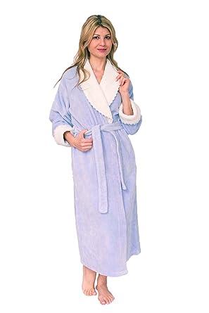 Bath & Robes Women\'s Dressing Gown Soft Cotton Chenille Wrap Robe ...