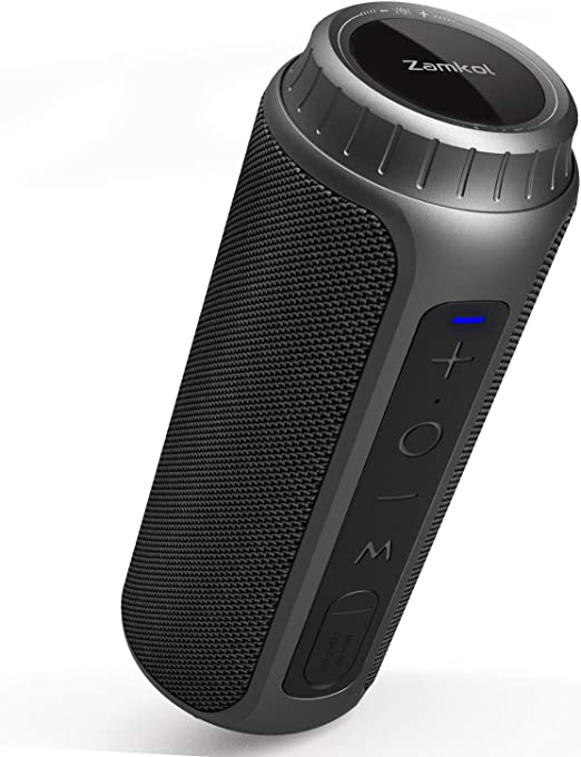 Amazon.com: Zamkol Bluetooth Speaker 30W Waterproof Bluetooth Speakers Portable Wireless Loud Stereo Sound & Enhanced Bass Speaker Bluetooth 5.0, Built-in Mic, IPX6 for Home Party, Shower, Outdoor, Travel: Home Audio & Theater